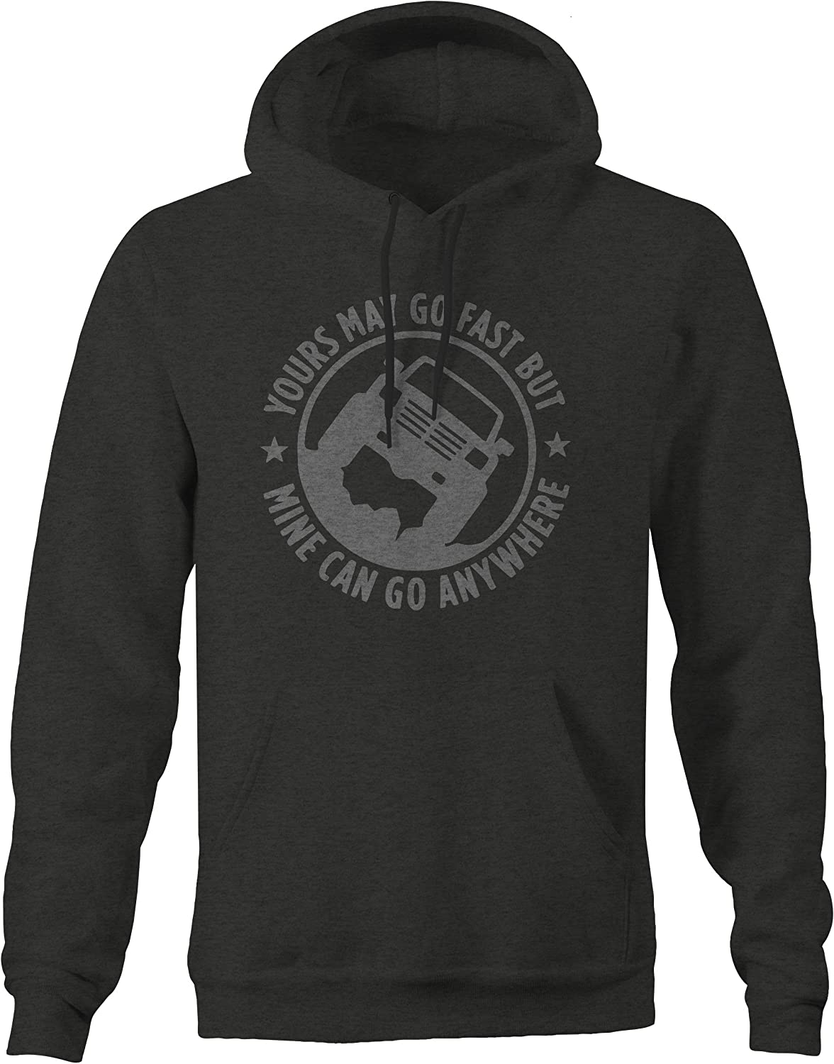 Go Anywhere Pickup Truck Hoodie for Men OS Gear American May Go Fast