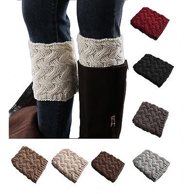 8 Pack Women Leg Warmers Crochet Knit Boot Socks Topper Cuff