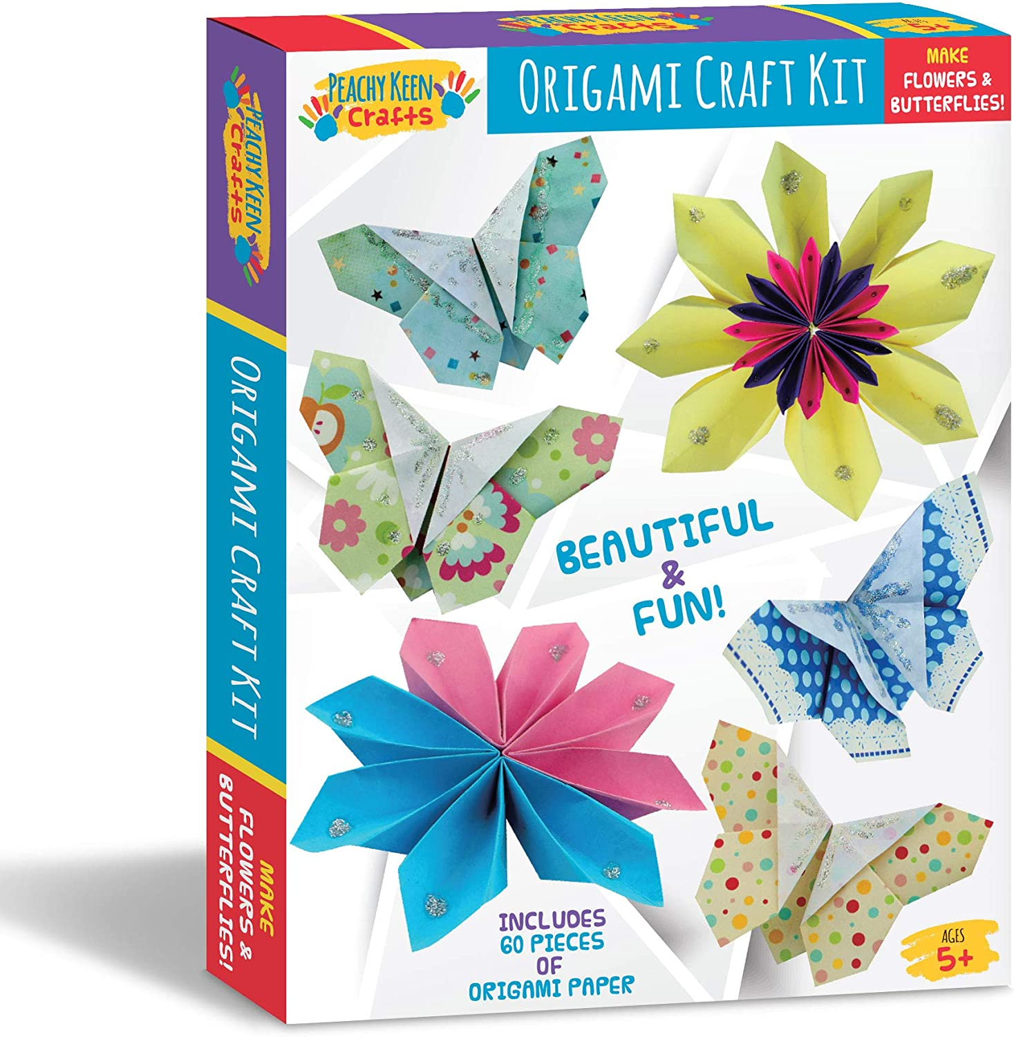 Amazon.com: Peachy Keen Crafts Beginners Origami Kit de ...