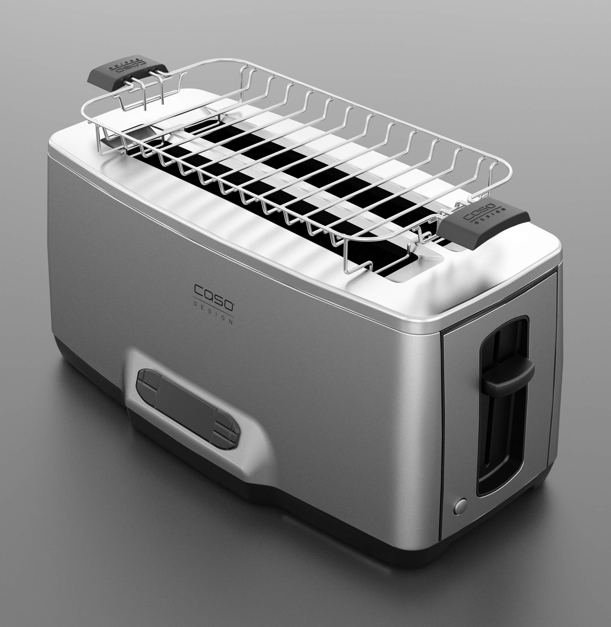 Caso Design INOX.4 Four-Slice Toaster with Wire Warming Basket Attachment, 4, Stainless by Caso Design (Image #5)
