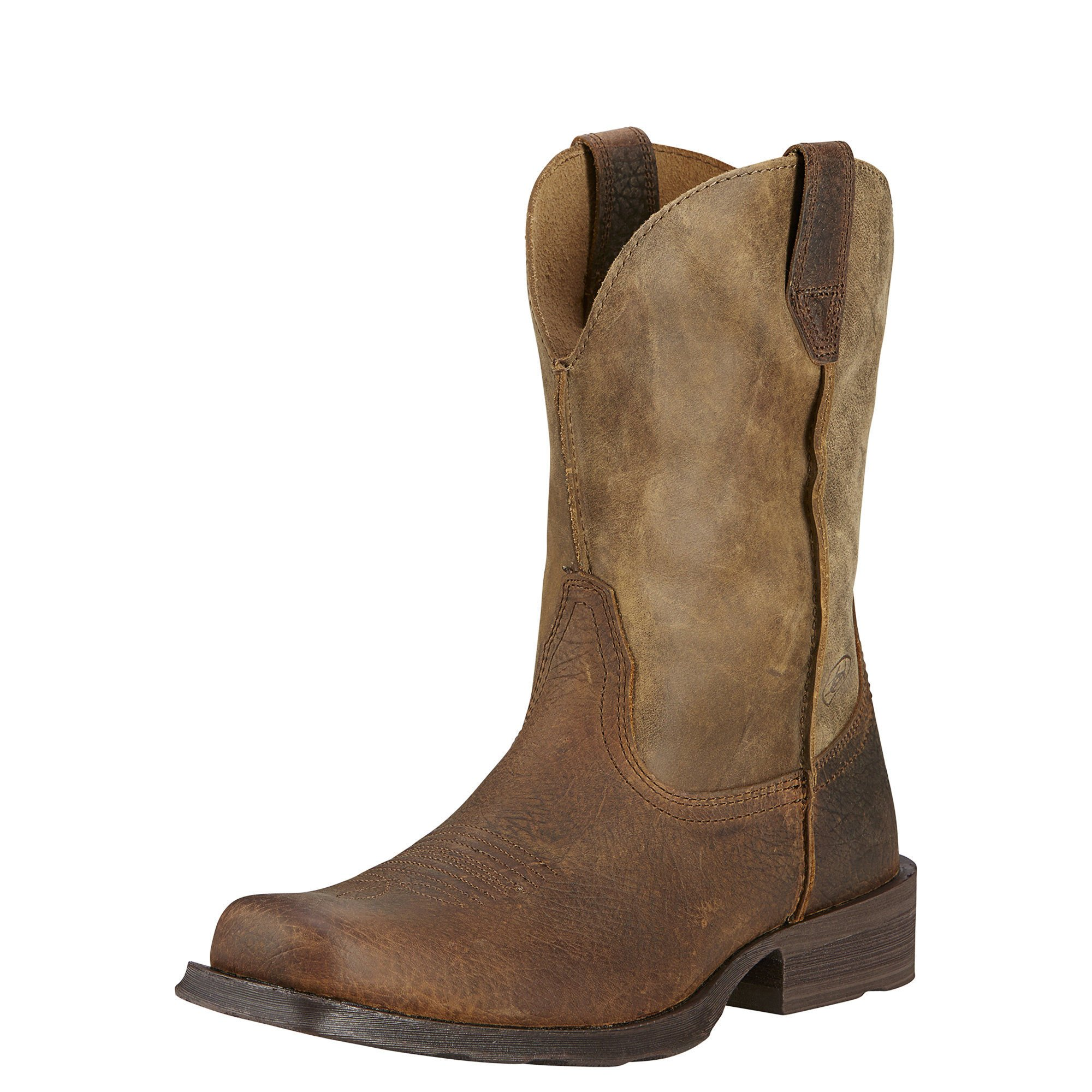 Ariat Men's Rambler Wide Square Toe Western Cowboy Boot, Earth/Brown Bomber, 10.5 M US