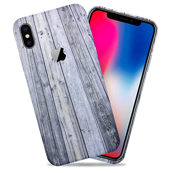 pretty nice 21b06 812cc Aged Wood Texture Protective Skin Decal for Apple iPhone X/iPhone 10  Sticker Wrap Cover 2 Pack by GolemGuard
