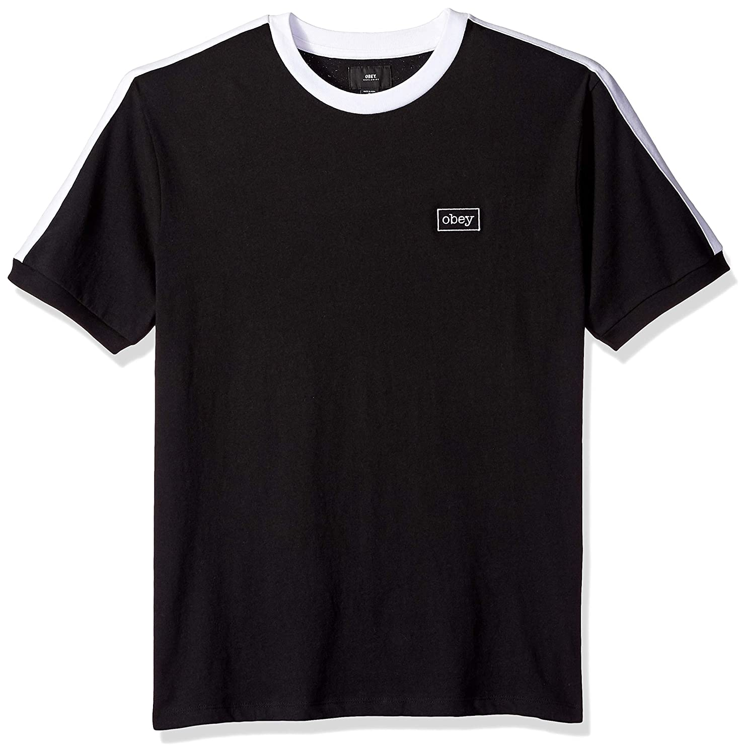 Obey Mens Borstal Box Knit Short Sleeve Tshirt
