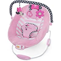 Disney Baby, Minnie Maus Blushing Bows Wippe mit Melodien, Lautstärkeregler, Vibrationen und automatischer Ausschaltfunktion