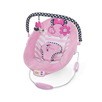 c15f488aaf34 Amazon.com   Disney Baby Minnie Mouse Blushing Bows Bouncer   Baby