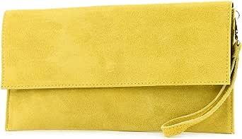 modamoda de - cuero italiano de embrague T151 Pequeño Gamuza