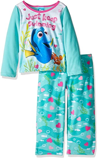 Amazon.com  Disney Girls  Finding Dory 2-Piece Pajama Set  Clothing ccf55f7b0