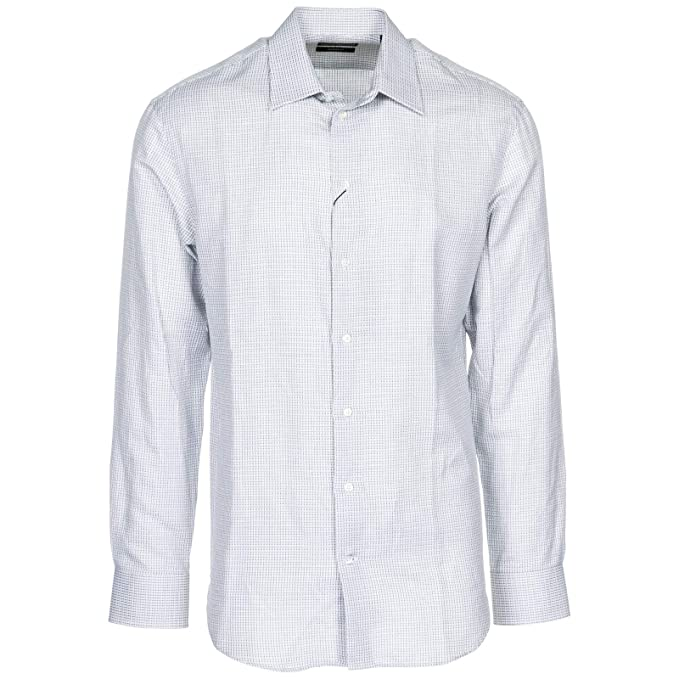 kuuma myynti paras arvo san francisco Emporio Armani Men Shirt Grigio 15 3/4 inch at Amazon Men's ...