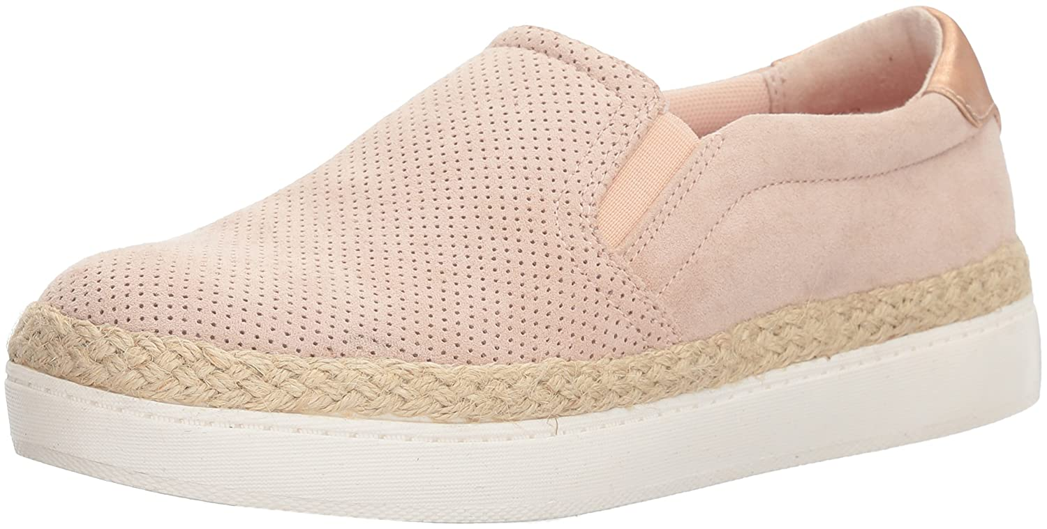 Dr. Scholl's Shoes Women's Madi Jute Sneaker B074ZY1SLV 6.5 B(M) US|Blush Microfiber Perforated