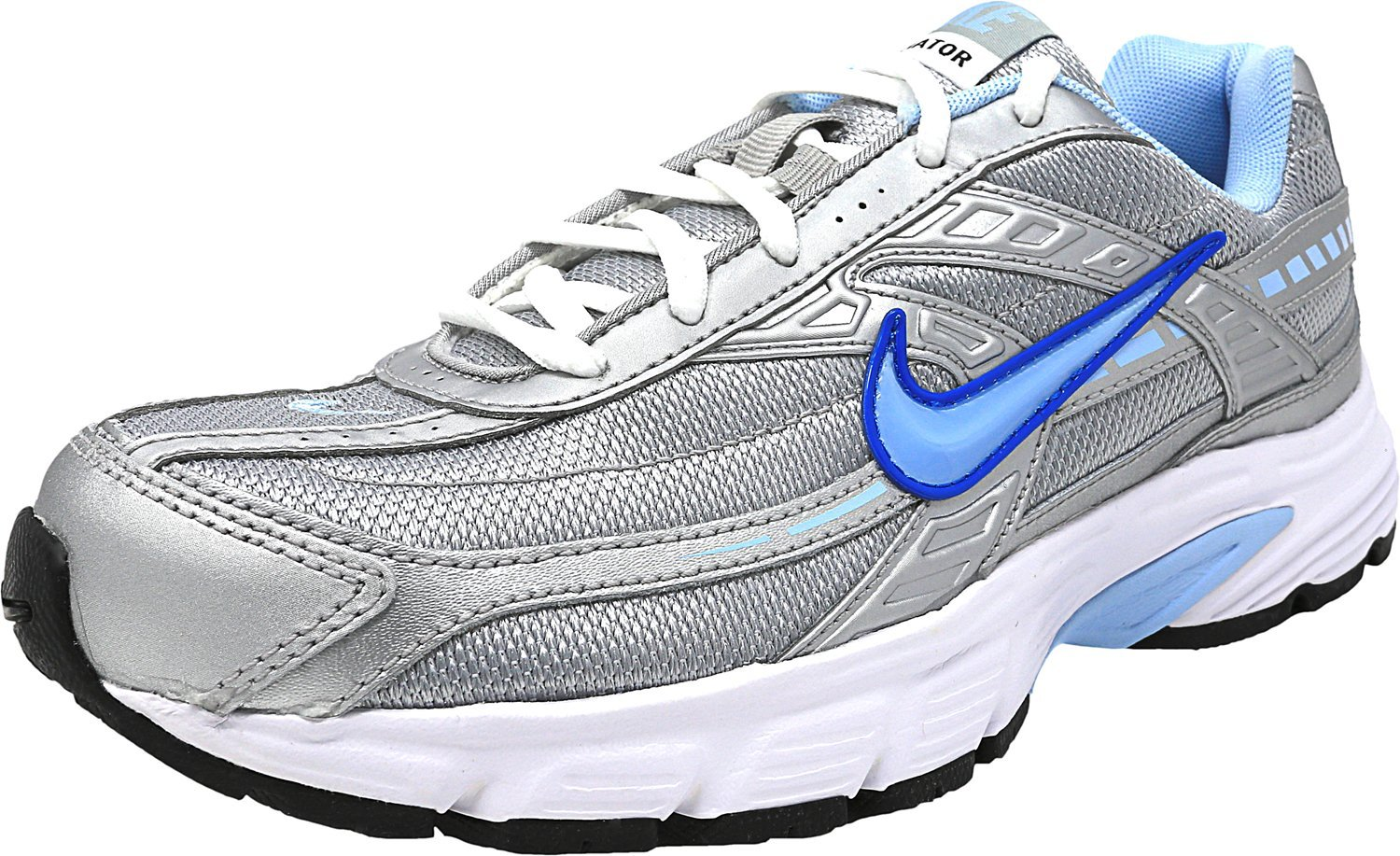 NIKE Women's Initiator Running Shoes B071G24VVG 6 C/D US|Mtlc Silver/Ice Blue White Gry