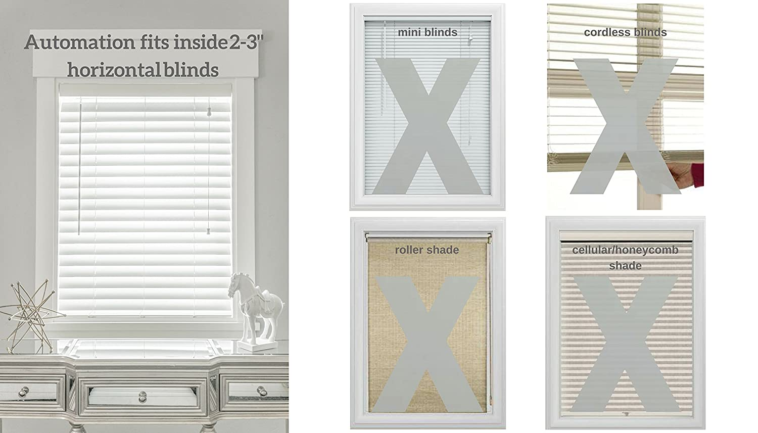 MySmartBlinds Automation Kit Motorized Blinds for iOS Android