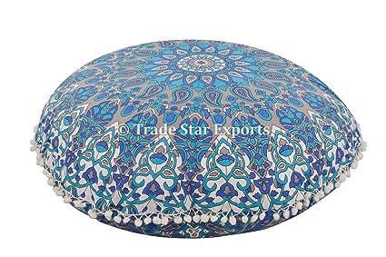 Star Mandala Rund Bodenkissen Dekorativer Uberwurf Kopfkissen 81 3