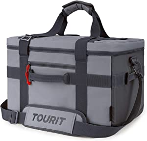 TOURIT Cooler Bag 48-Can Insulated Soft Cooler Large Collapsible Cooler Bag 32L Lunch Coolers for Picnic, Beach, Work, Trip
