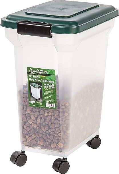Incroyable IRIS Remington Airtight Pet Food Storage Container, 22 Pounds, Hunter Green