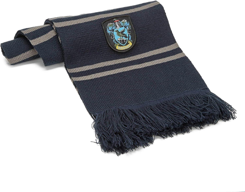 Cinereplicas - Harry Potter - Bufanda - Licencia Oficial - Casa Ravenclaw - 190 cm - Azul y Gris
