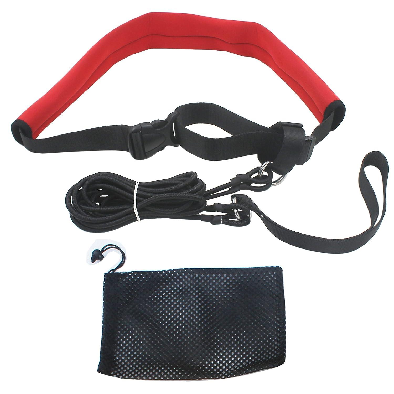 YYST 2.0M Pool Swim Training Leash Swim Training Belt Swim Resistance Tether