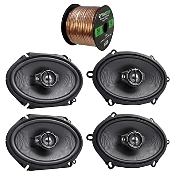 "2x Kenwood KFC-C5795PS 5x7"" 360W 3-Way Custom Fit Coaxial Speakers +"