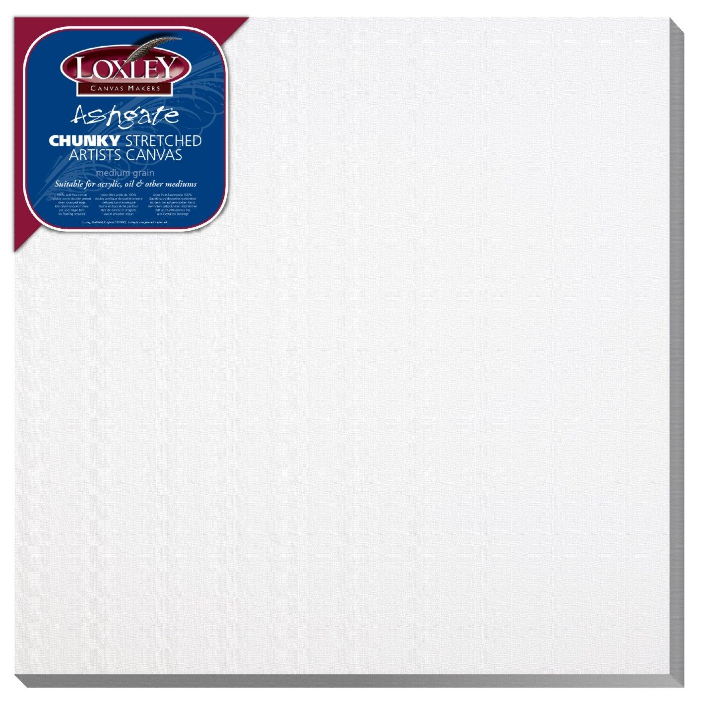 Loxely ACC-1616 - Tela da artisti, 41 x 41 cm, profondità : 36 mm, colore: bianco profondità: 36 mm Colourfull Arts