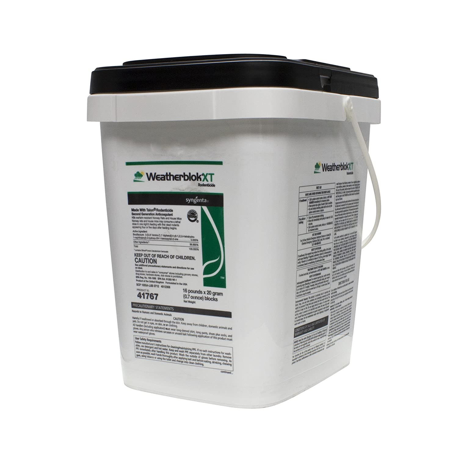 Amazon com : Syngenta KILL RATS WITH WEATHERBLOK XT 16# PAIL : Home