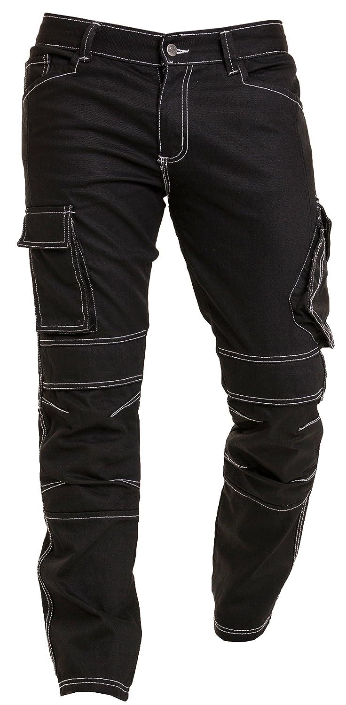 Qaswa Herren Motorradhose Jeans Motorrad Hose Motorradrü stung Schutzauskleidung Motorcycle Biker Trousers