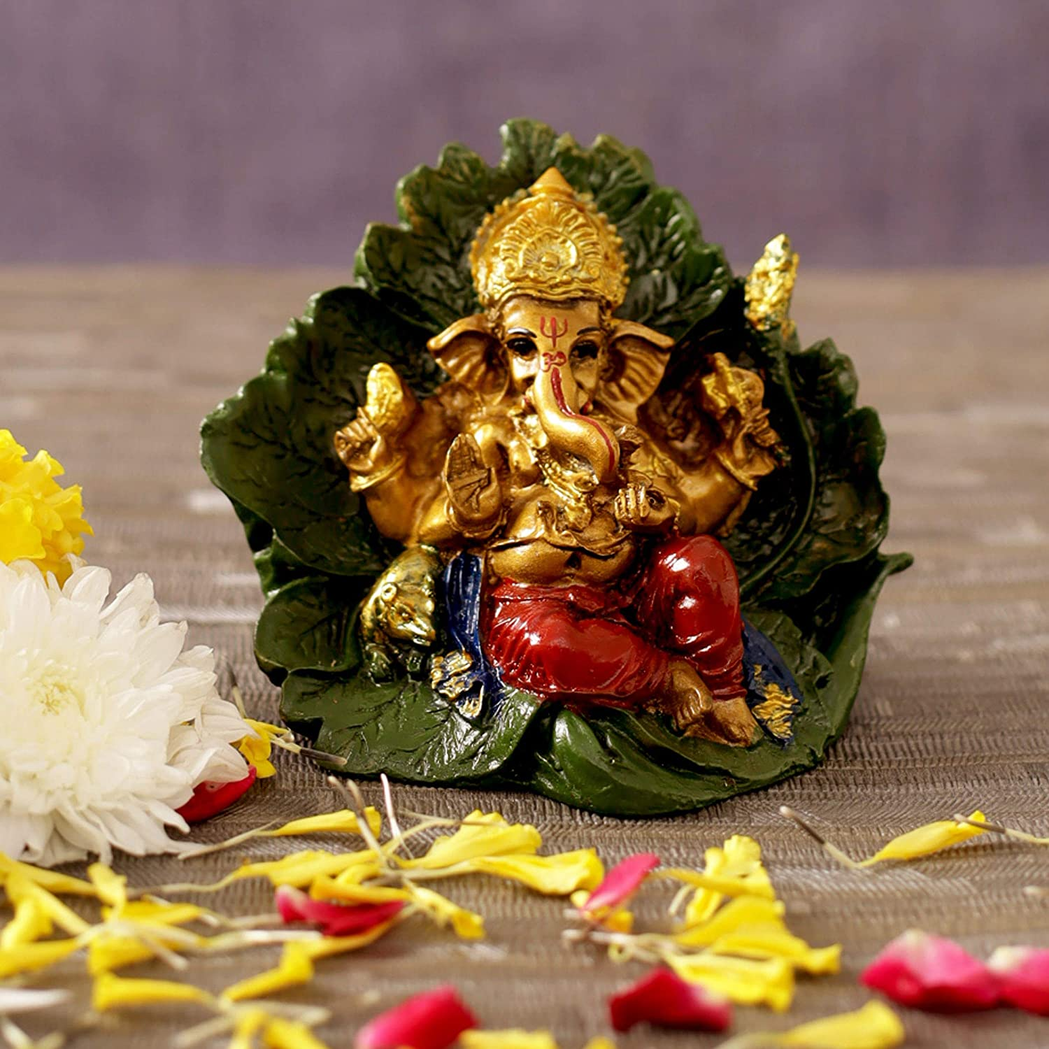 TIED RIBBONS Ganesha Idol for Home Decor Mandir Table Desktop Table Decoration - Ganesh Idol for Gift