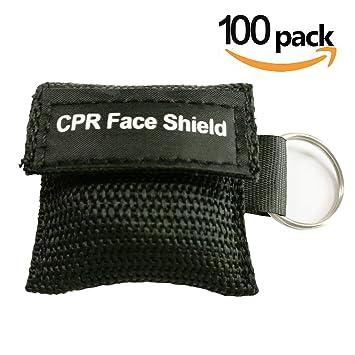 emontek Negro RCP Máscara RCP Face Shield con cadena para ...