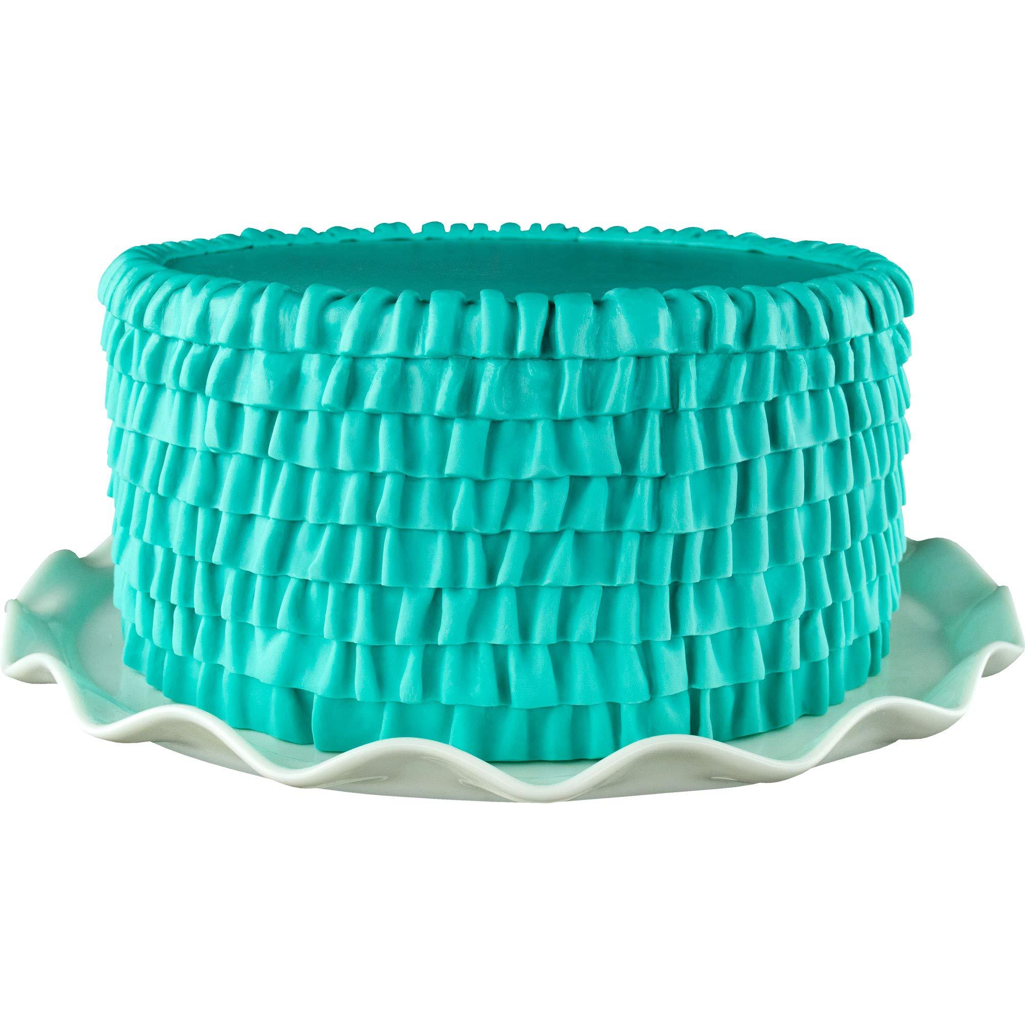 Marvelous Molds Romantic Ruffle Simpress Silicone Mold   Cake Decorating   Fondant   Gumpaste Icing by Marvelous Molds (Image #3)