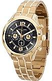 Jorg Gray JG6100-22 Mens Black and Gold Tone Steel Bracelet Watch