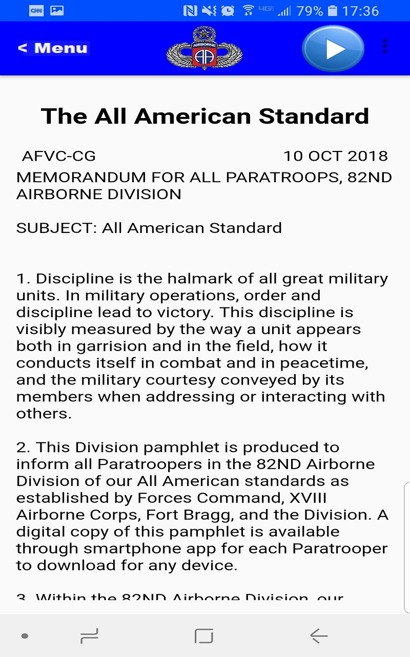 Amazon com: 82nd Airborne Division Pam 600-2: Appstore for