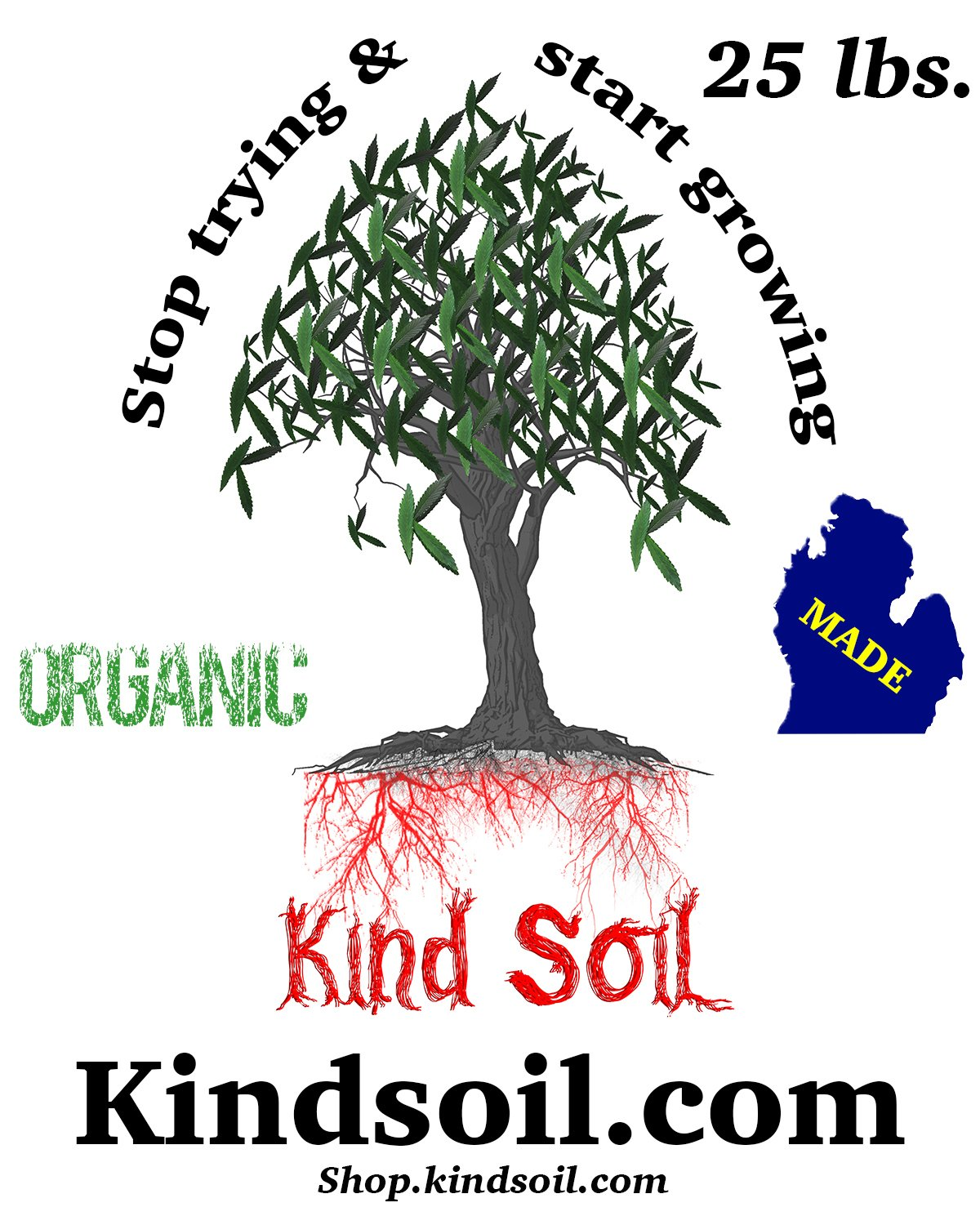 Kind Soil Hot Mix Total Weight, ( 5 x 5 lbs. Bags) - 25 lbs.