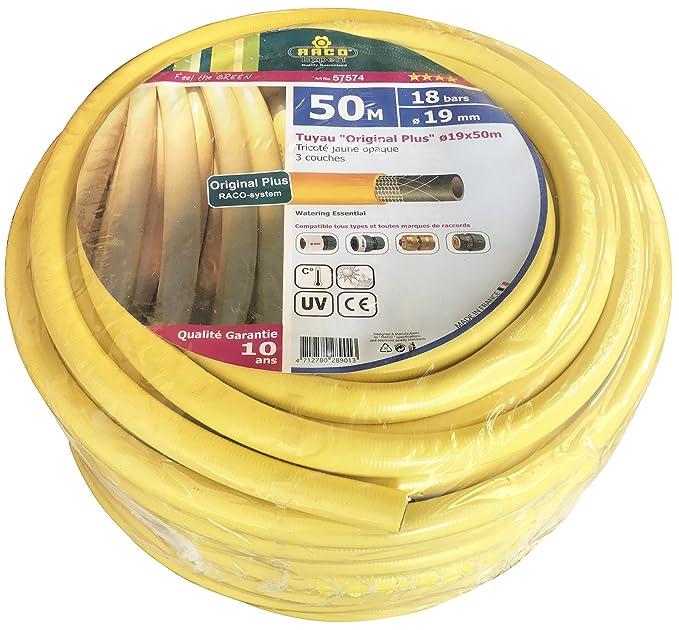 3//4 Rollo 50 Metros Manguera Amarillo Hidro Mat 19 Mm