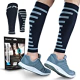 PowerLix Calf Compression Sleeve (Pair) – Supreme Shin Splint Sleeves for Men & Women – 20-30 mmHg