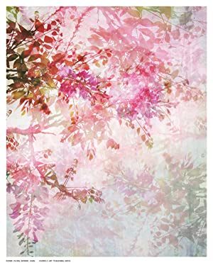 FLORAL BORDER, Abstract Art Print Poster