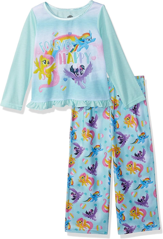 My Little Pony Girls' Rainbow Hearts 2-Piece Pajama Set