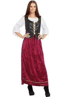 Beer Wench Ladies Ladies Fancy Dress Oktoberfest Bavarian Medieval Adult Costume