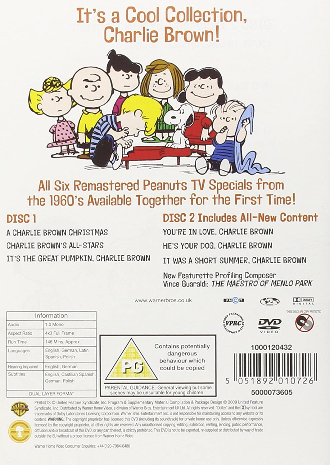 Peanuts 1960\'s Collection [DVD]: Amazon.co.uk: DVD & Blu-ray