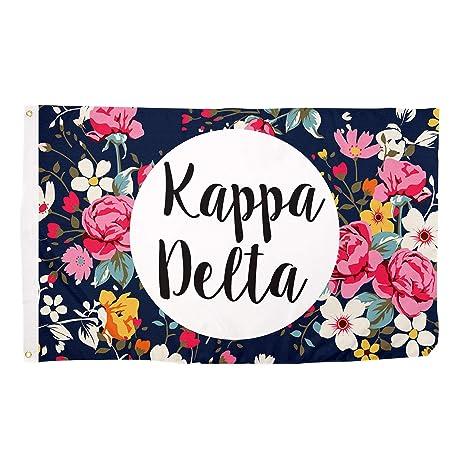 61262ea77 Amazon.com : Kappa Delta Sorority Floral Pattern Flag Banner Greek Sign  Decor KD : Garden & Outdoor