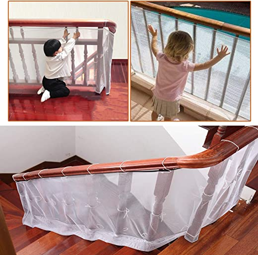 Pack of 2 - Strong Fine Mesh Fall Prevention Safety Net