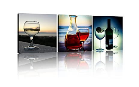 Amazon.com: NAN Wind Red Wine Glass Wall Art Prints Posters For ...