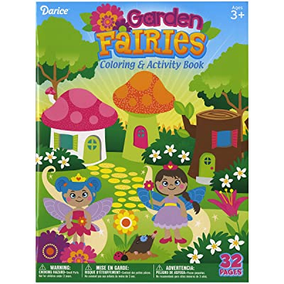 Darice 100D2495 Garden Fairies Coloring Book: Arts, Crafts & Sewing