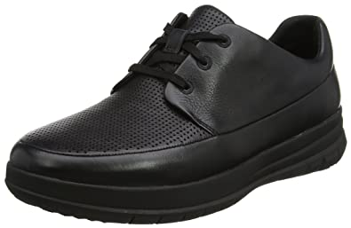 FitFlop Sporty-Pop Perforated Sneaker, Baskets Homme, (All Black 090), 43 EU