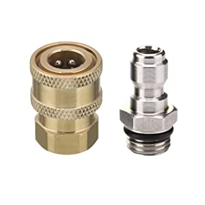 Mingle Pressure Washer Adapter Set, 1/4'' Quick Disconnect Kit, 5000 PSI