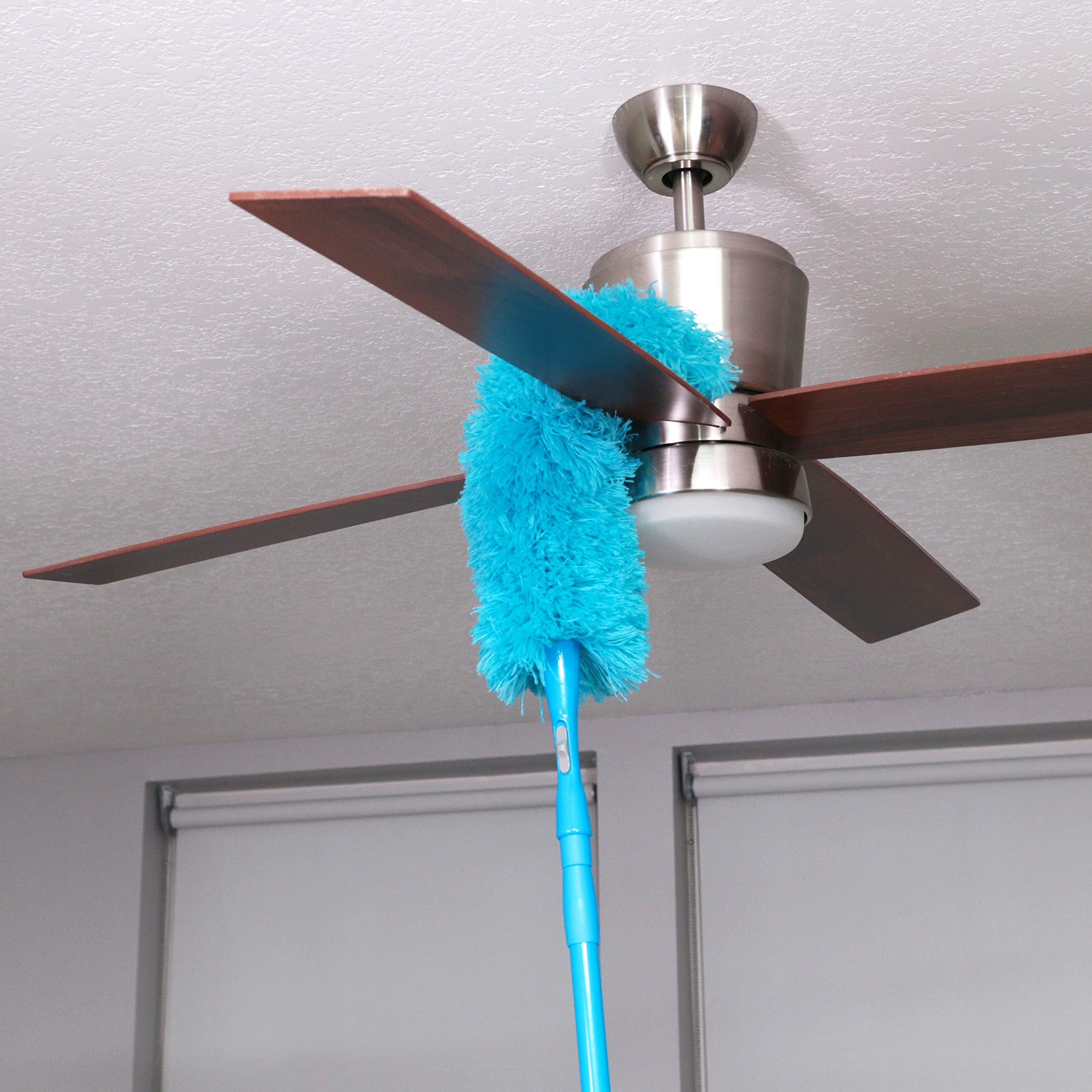 Hank HouseHold TriboDuster with Bonus Blinds Cleaner - Microfiber Duster for Cleaning with Extendable Telescoping Pole Up to 5ft6''! Ceiling Fan Dusters, Cobweb/Spider Web Brush and Blind Duster by Hank HouseHold (Image #2)