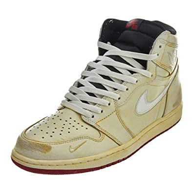 e85ad0da32d76d Nike Mens Air Jordan 1 High OG NRG Nigel Sylvester Sail Wht Leather Size 10