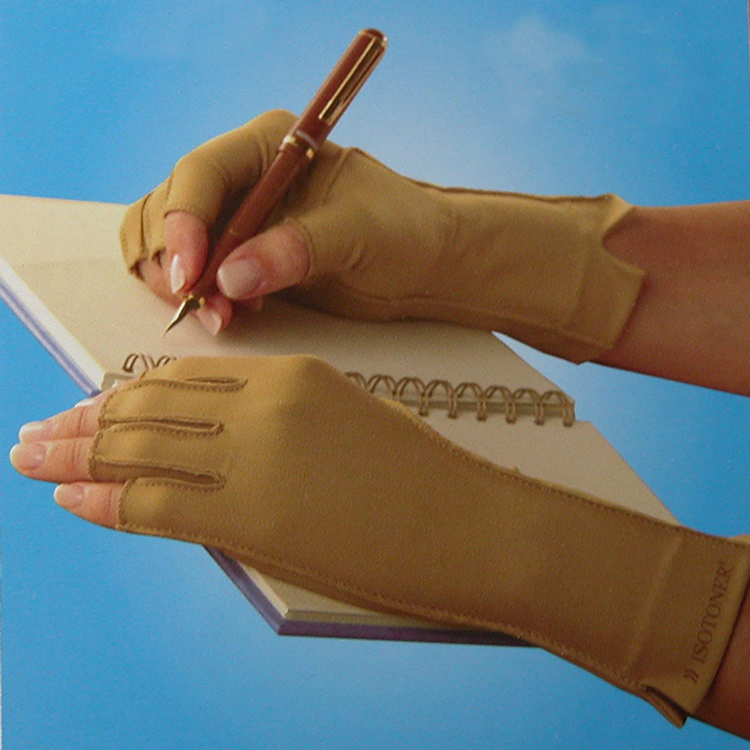 Open Finger isotoner Therapeutic Compression Gloves Unisex