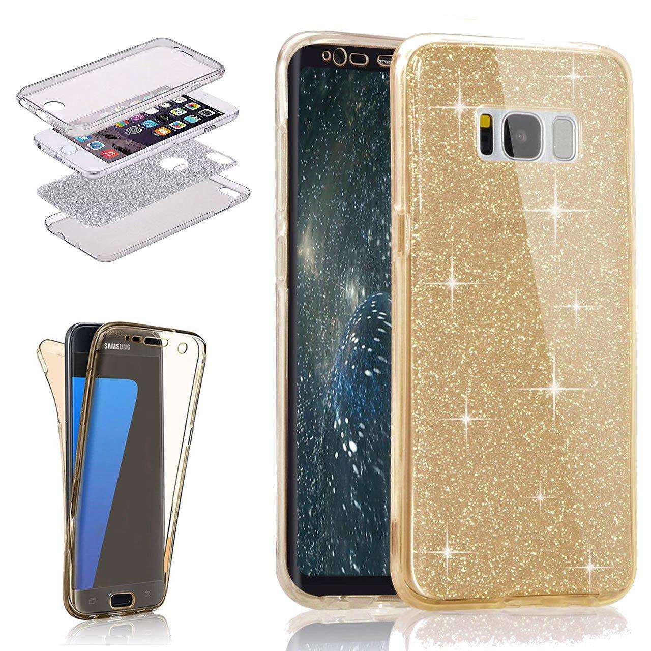 Amazoncom Galaxy S8 Glitter Casegalaxy S8 Bing Tpu Coverleecase