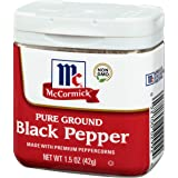 McCormick Pure Ground Black Pepper, Classic Size, 1.5 oz