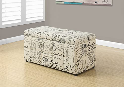 Monarch Vintage French Fabric Ottoman