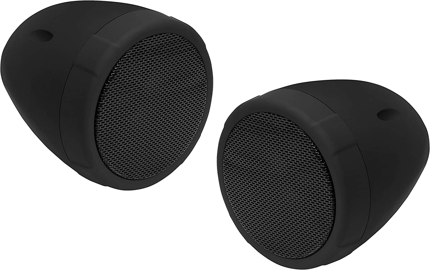 BOSS Audio Systems MCBK425BA Motorcycle Speaker System - 2 3 Inch Weatherproof Speakers with Built-in Amplifier,1 Volume Control, Great for Use with ATVs Motorcycles and All 12 Volt Vehicles