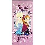 منشفة حمام / حمام السباحة / الشاطئ للأطفال من Jay Franco Disney Frozen Sister Queen - منشفة قطنية فائقة النعومة وذات…